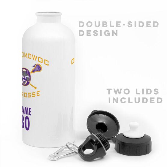 20 oz. Stainless Steel Water Bottle - Oconomowoc Lacrosse Logo Name Number