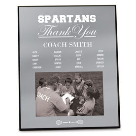 Tennis Photo Frame Thank You Coach Roster