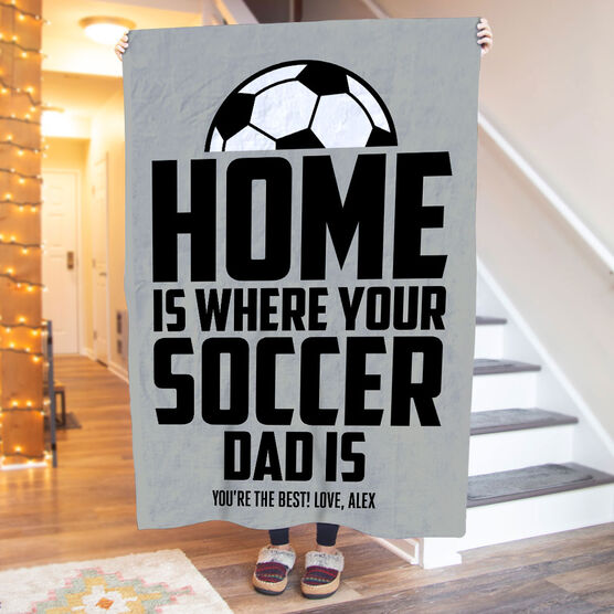 Soccer Premium Blanket - Home Is Where Your Soccer Dad Is