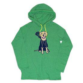 Guys Lacrosse Lightweight Hoodie - Riley The Lacrosse Dog