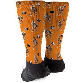Seams Wild Baseball Printed Mid-Calf Socks - Spikes (Pattern)