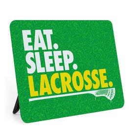 Guys Lacrosse Desk Art - Eat. Sleep. Lacrosse.