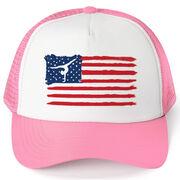 Gymnastics Trucker Hat - American Flag