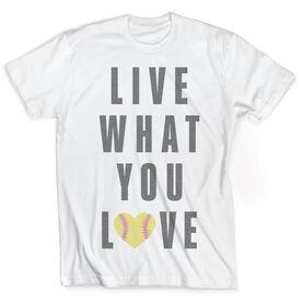 Vintage Softball T-Shirt - Live What You Love