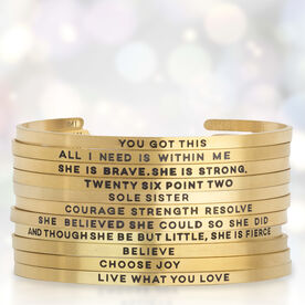 InspireME Cuff Bracelet - All I Need Is Within Me