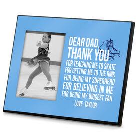 Figure Skating Wood Frame Dear Dad