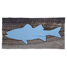 Fly Fishing Beach Towel Striper with Silhouette