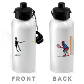 Girls Lacrosse 20 oz. Stainless Steel Water Bottle - She Goes For The Goal