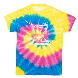 Baseball Short Sleeve T-Shirt - Baseball Player Tie Dye