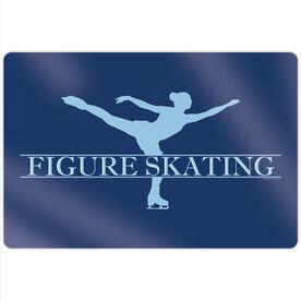 "Figure Skating 18"" X 12"" Aluminum Room Sign - Crest"