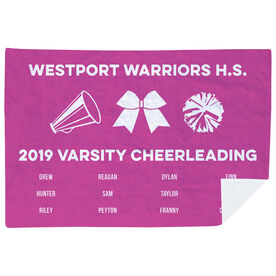 Cheerleading Premium Blanket - Team Roster