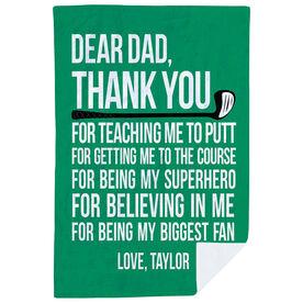 Golf Premium Blanket - Dear Dad