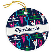 Cheer Porcelain Ornament Personalized Cheer Girl Pattern
