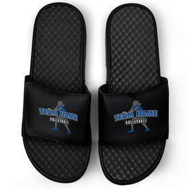Volleyball Black Slide Sandals - Your Team Name