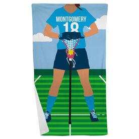 Girls Lacrosse Beach Towel - Girls Lacrosse Player