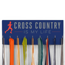 Cross Country Hooked On Medals Hanger My Life (Male)