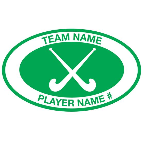 Personalized Field Hockey Vinyl Decal