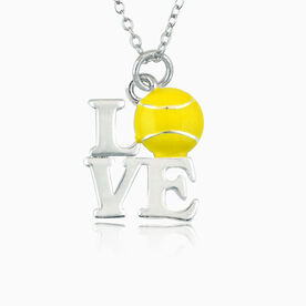 Love Tennis Necklace