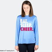 Cheerleading Long Sleeve Performance Tee - Eat. Sleep. Cheer.