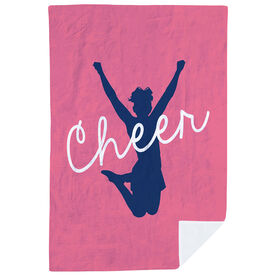 Cheerleading Premium Blanket - Cheer Girl Silhouette