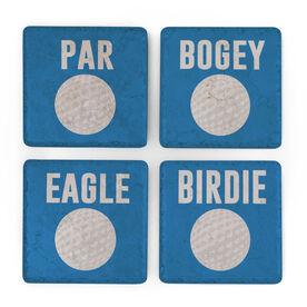 Golf Stone Coasters Set of Four - Lingo