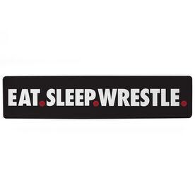 "Wrestling Aluminum Room Sign - Eat Sleep Wrestle (4""x18"")"