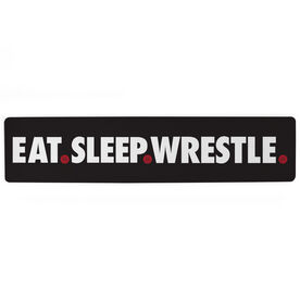 "Wrestling Aluminum Room Sign - Eat Sleep Wrestle (4""x18"")"