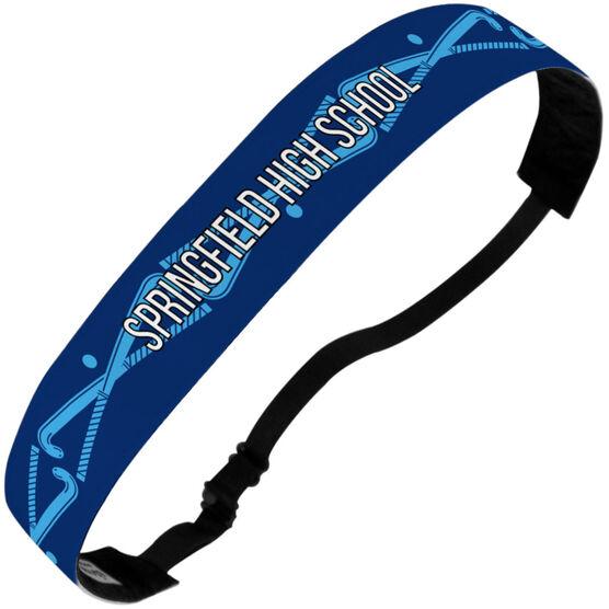Field Hockey Julibands No-Slip Headbands - Personalized Crossed Sticks Stripe Pattern