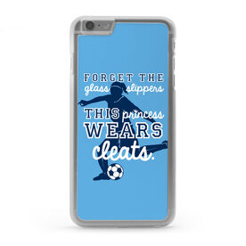 Soccer iPhone® Case - This Princess Wears Cleats [Light Blue/iPhone 6 Plus] -SS