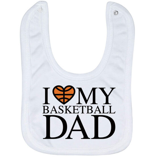 Basketball Baby Bib - I Love My Basketball Dad