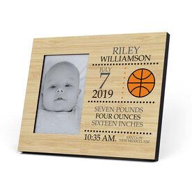 Basketball Photo Frame - Birth Announcement
