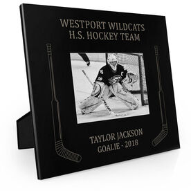 Hockey Engraved Picture Frame Side Sticks (Goalie)