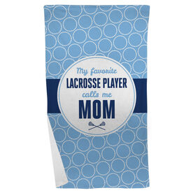 Lacrosse Beach Towel My Favorite Player