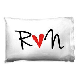 Running Pillow Case - Run Heart