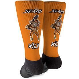 Seams Wild Baseball Printed Mid-Calf Socks - Spikes