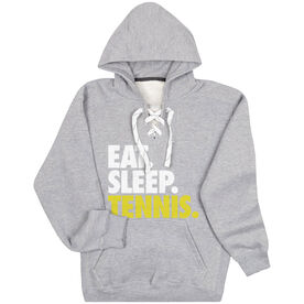 Tennis Sport Lace Sweatshirt Eat. Sleep. Tennis.
