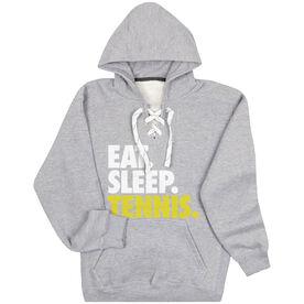 Tennis Sport Lace Sweatshirt Eat. Sleep. Tennis.