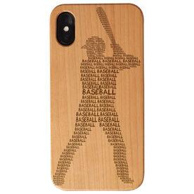 Baseball Engraved Wood IPhone® Case - Baseball Words