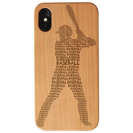 Baseball Engraved Wood IPhone® Case - Baseball Words