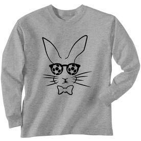 Soccer Tshirt Long Sleeve Hopster Soccer Bunny