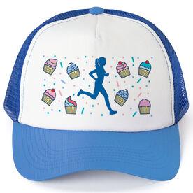 Running Trucker Hat - Cupcakes Female Runner