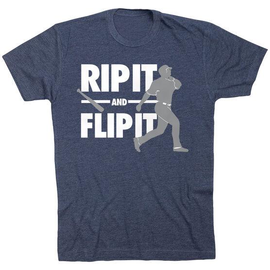 Baseball Tshirt Short Sleeve Rip It Flip It