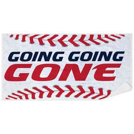 Baseball Premium Beach Towel - Going Going Gone