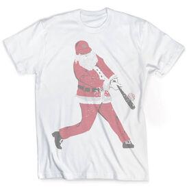 Vintage Baseball T-Shirt - Home Run Santa
