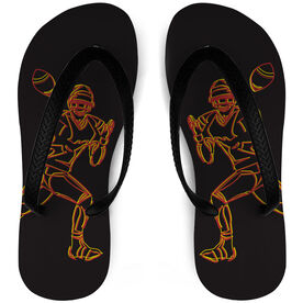 Football Flip Flops High Voltage Player