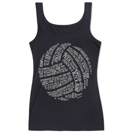 Volleyball Women's Athletic Tank Top Words