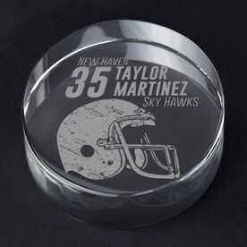 Football Personalized Engraved Crystal Gift - Personalized Icon