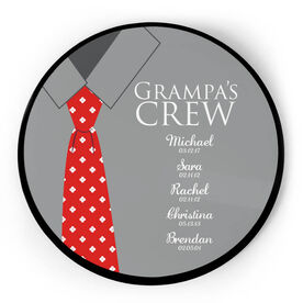 Personalized Circle Plaque - Grampa's Crew