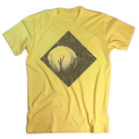 Vintage Baseball T-Shirt - Ball In Grass
