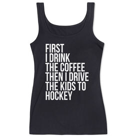 Hockey Women's Athletic Tank Top - Then I Drive The Kids To Hockey